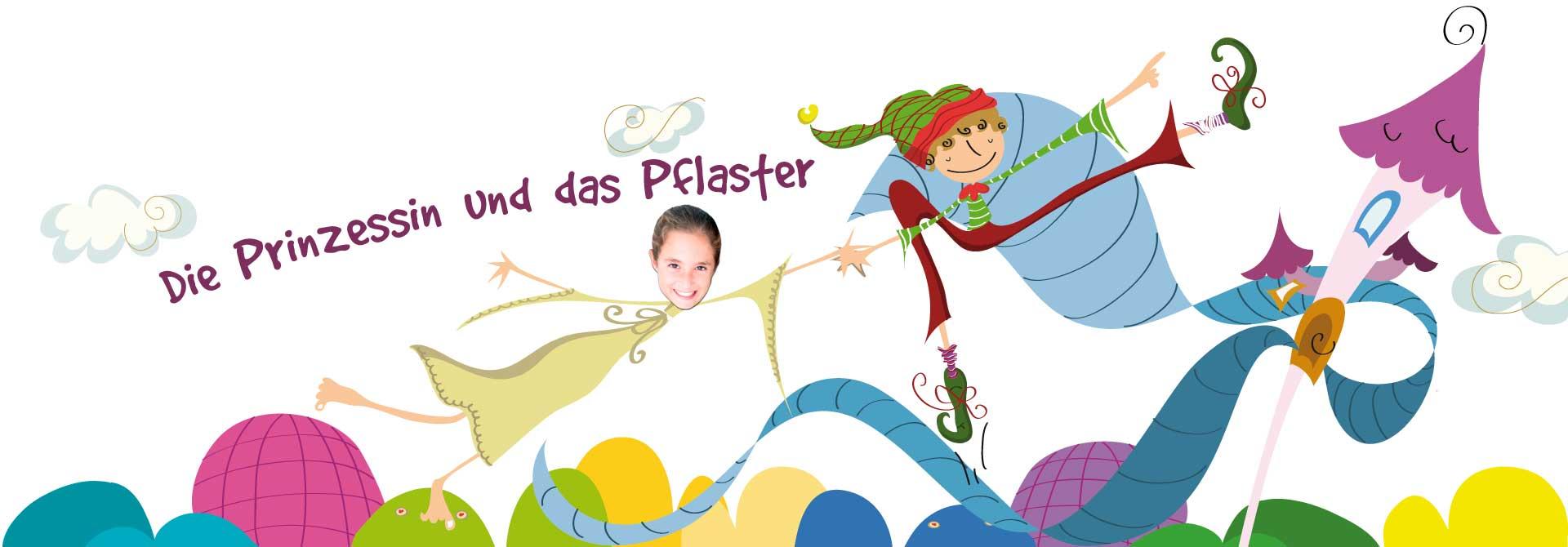 Persönliches kinderbuch: Die Geschichte der Prinzessinnen - Produkt- Kopfzeile