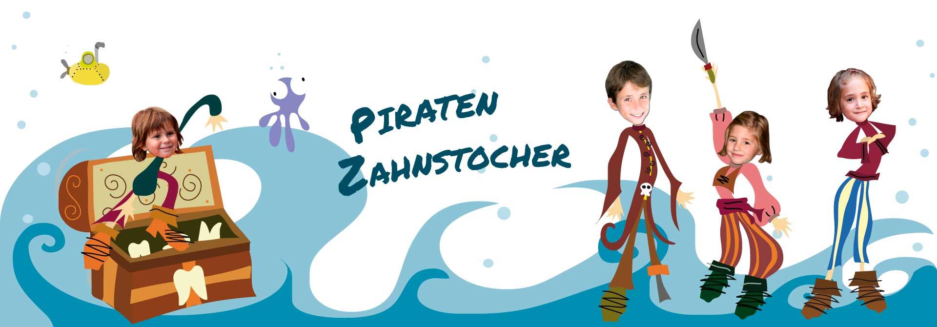 Personalisierte Kinderbücher: Eine personalisierte Piratengeschichte - Produkt- Kopfzeile